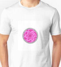 flower with striped round purple Unisex T-Shirt