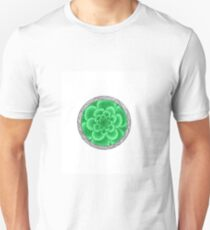 flower with striped round green Unisex T-Shirt