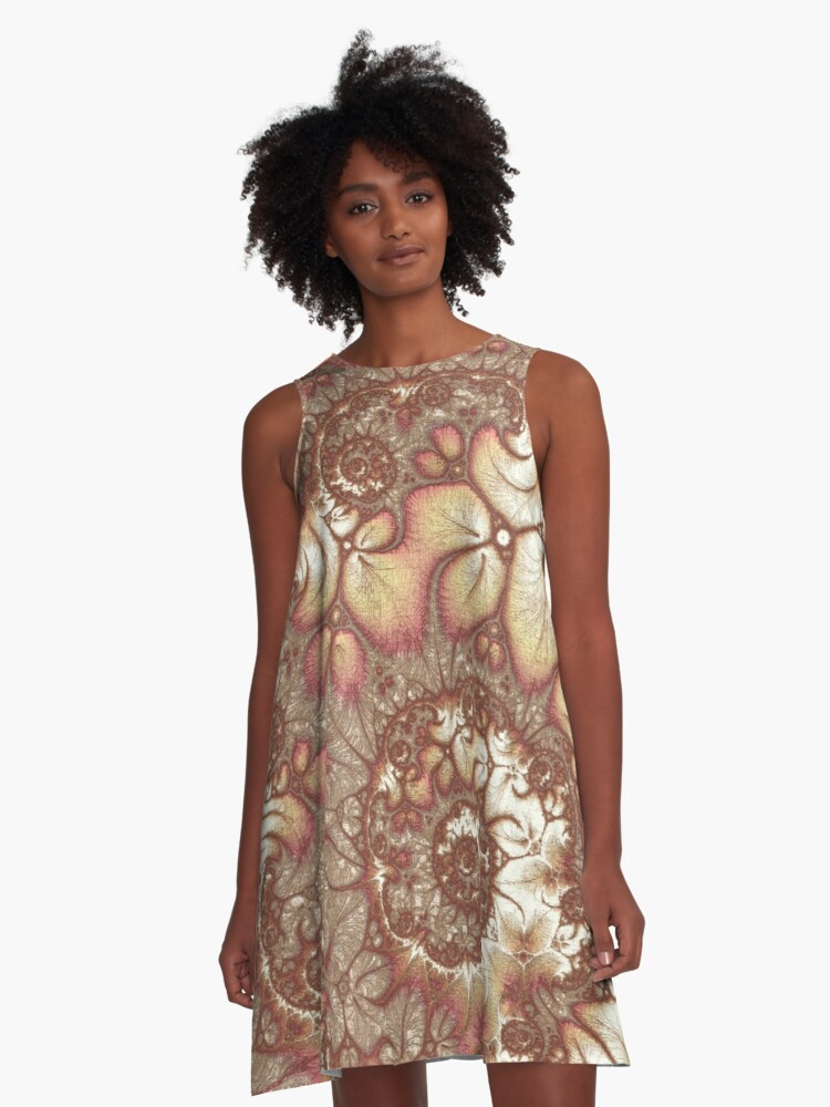 Microscopic Universe A-Line Dress Front