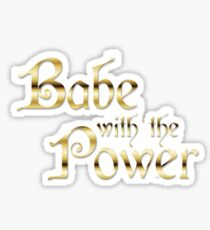Labyrinth Babe With The Power (white bg) Sticker