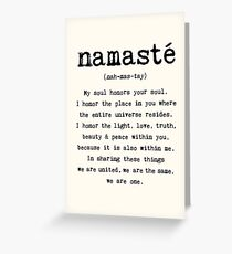 Namaste. Greeting Card