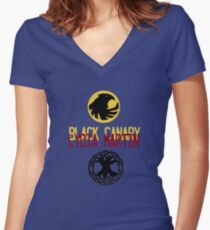 Lydia Martin- DC Crossover Women's Fitted V-Neck T-Shirt