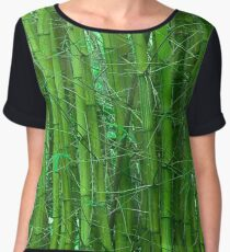 Green and serene bamboo Women's Chiffon Top