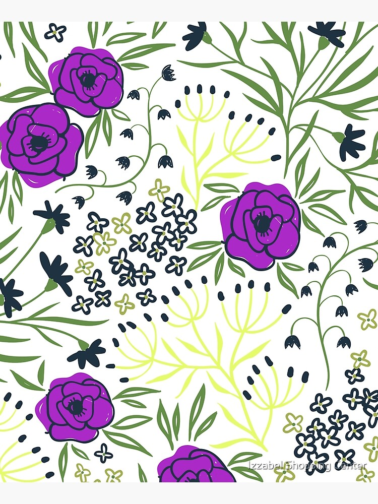 Aisha - Purple And Yellow Flower Print by style41