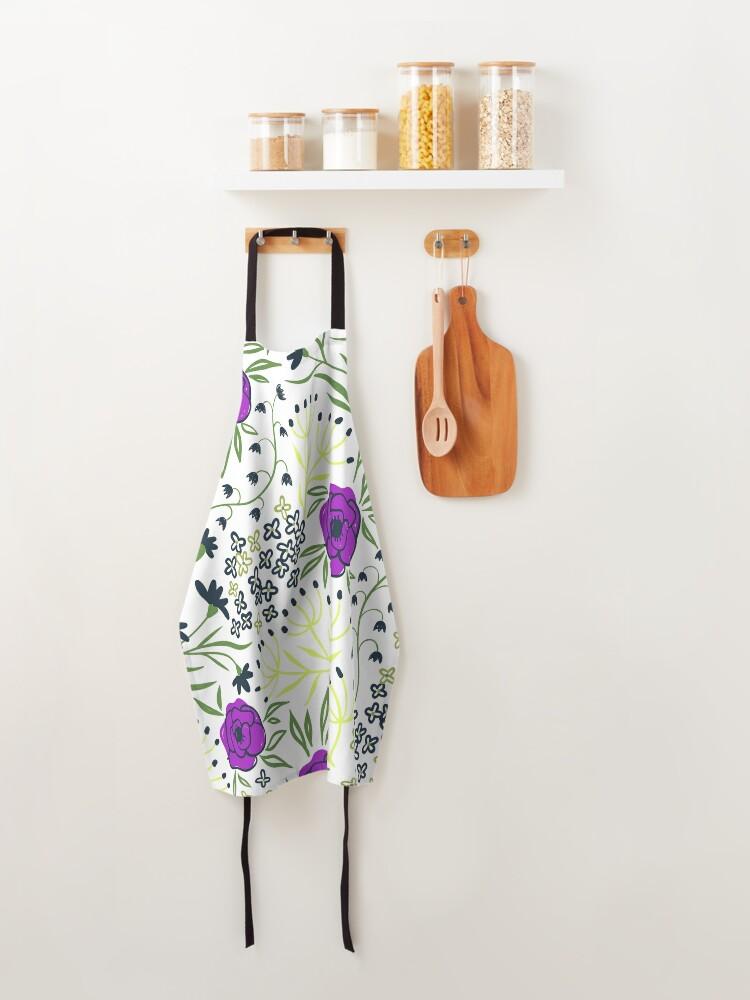 Alternate view of Aisha - Purple And Yellow Flower Print Apron