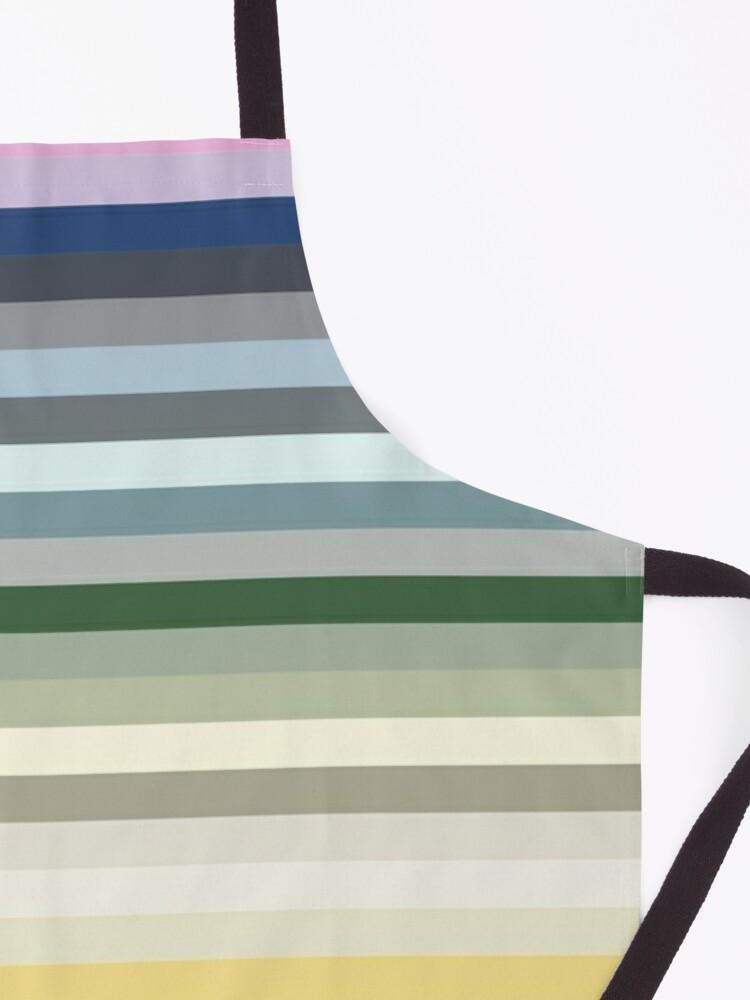 Alternate view of Candy Lane - Multicoloured Rainbow Stripes Apron