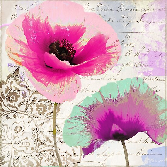 Poppies and Paint II  by mindydidit