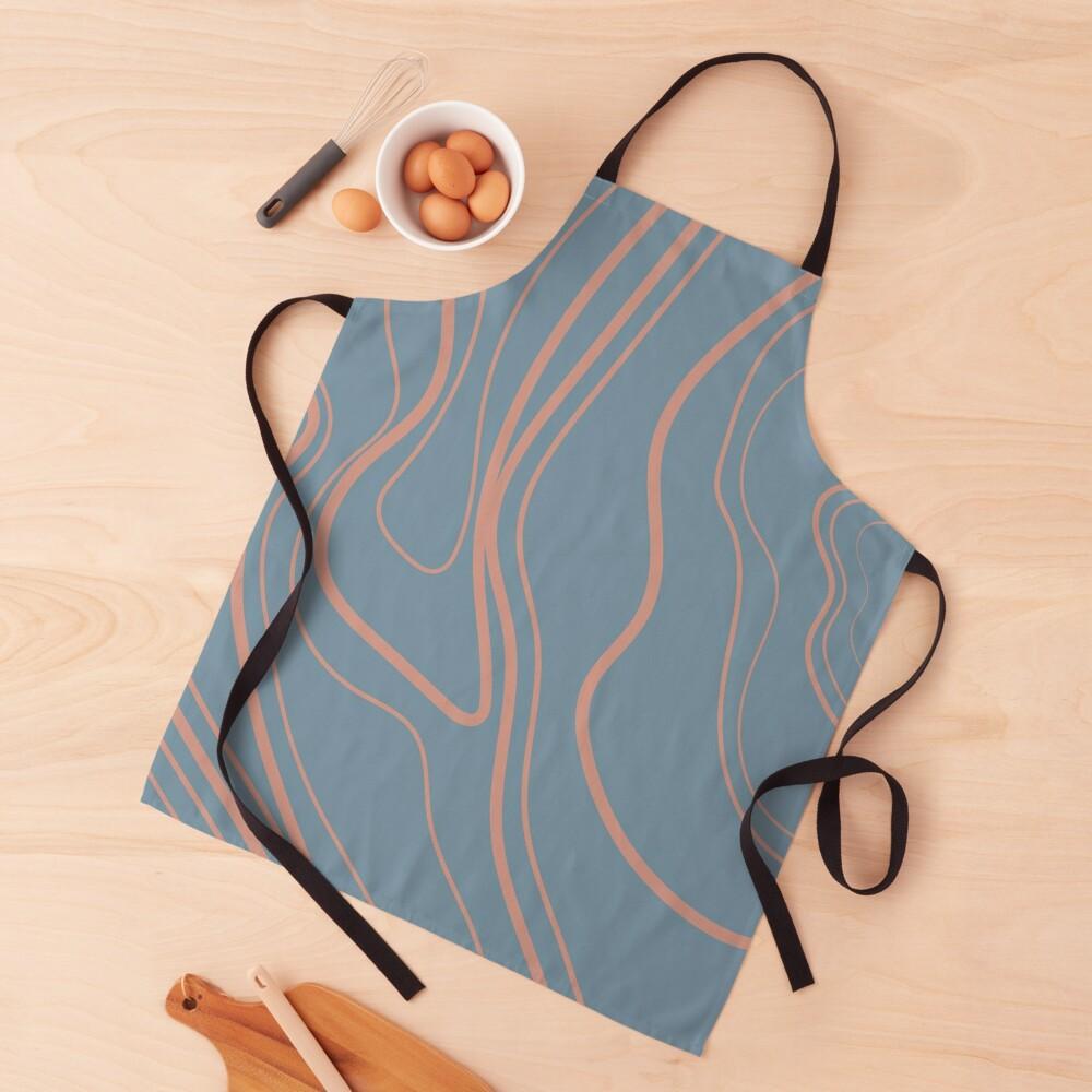 You Got Potential - Baby Blue Paisley Print Apron