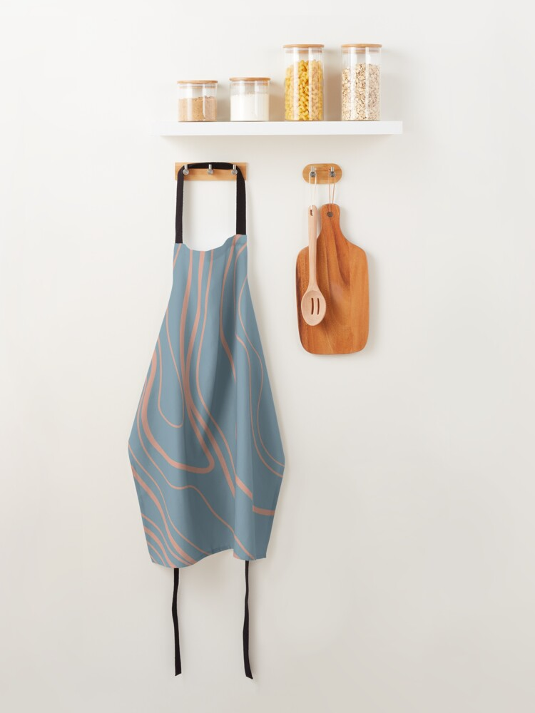 Alternate view of You Got Potential - Baby Blue Paisley Print Apron