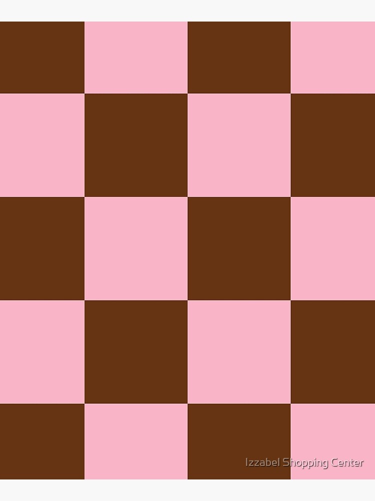 Zeliha - Pink Brown Checkered Print by style41