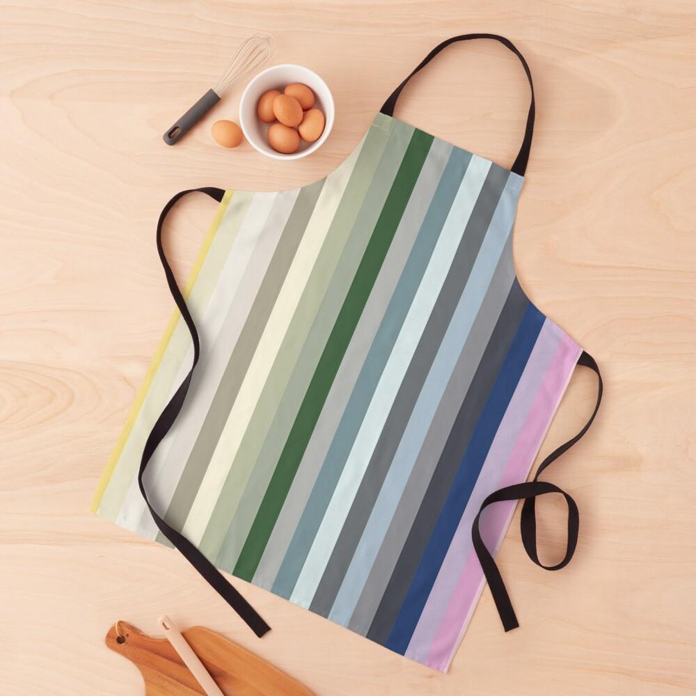 Candy Shop - Colourful Stripes Print Apron