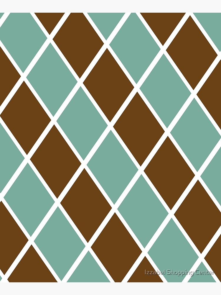 Notthing Hill - Green And Brown Checkered Print  by style41