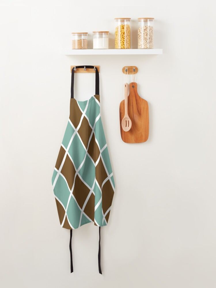 Alternate view of Notthing Hill - Green And Brown Checkered Print  Apron