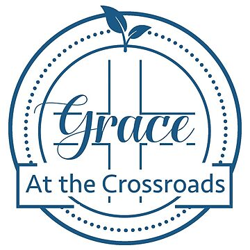 GRACE AT THE CROSSROADS BLUE LOGO by GraceCrossroads