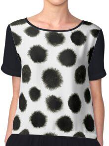 Pattern with black spots Chiffon Top