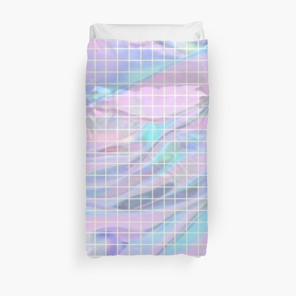 Holographic Grid Duvet Cover