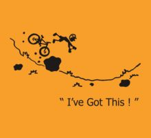 "Cycling Crash, Mountain Bike "" I've Got This ! "" Cartoon 