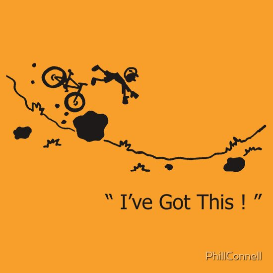 "TShirtGifter presents: Cycling Crash, Mountain Bike "" I've Got This ! "" Cartoon | Unisex T-Shirt"