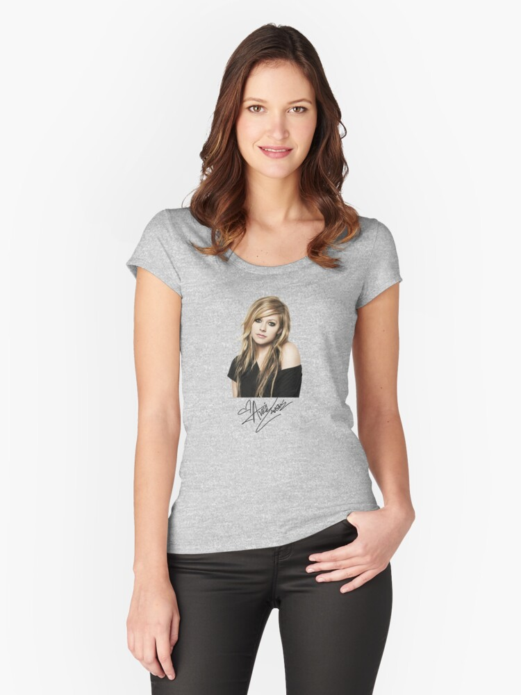 Avril Lavigne Women's Fitted Scoop T-Shirt Front