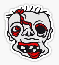 gesicht kopf untoter alter mann zombie cool ekelig laufen horror monster halloween comic cartoon  Sticker