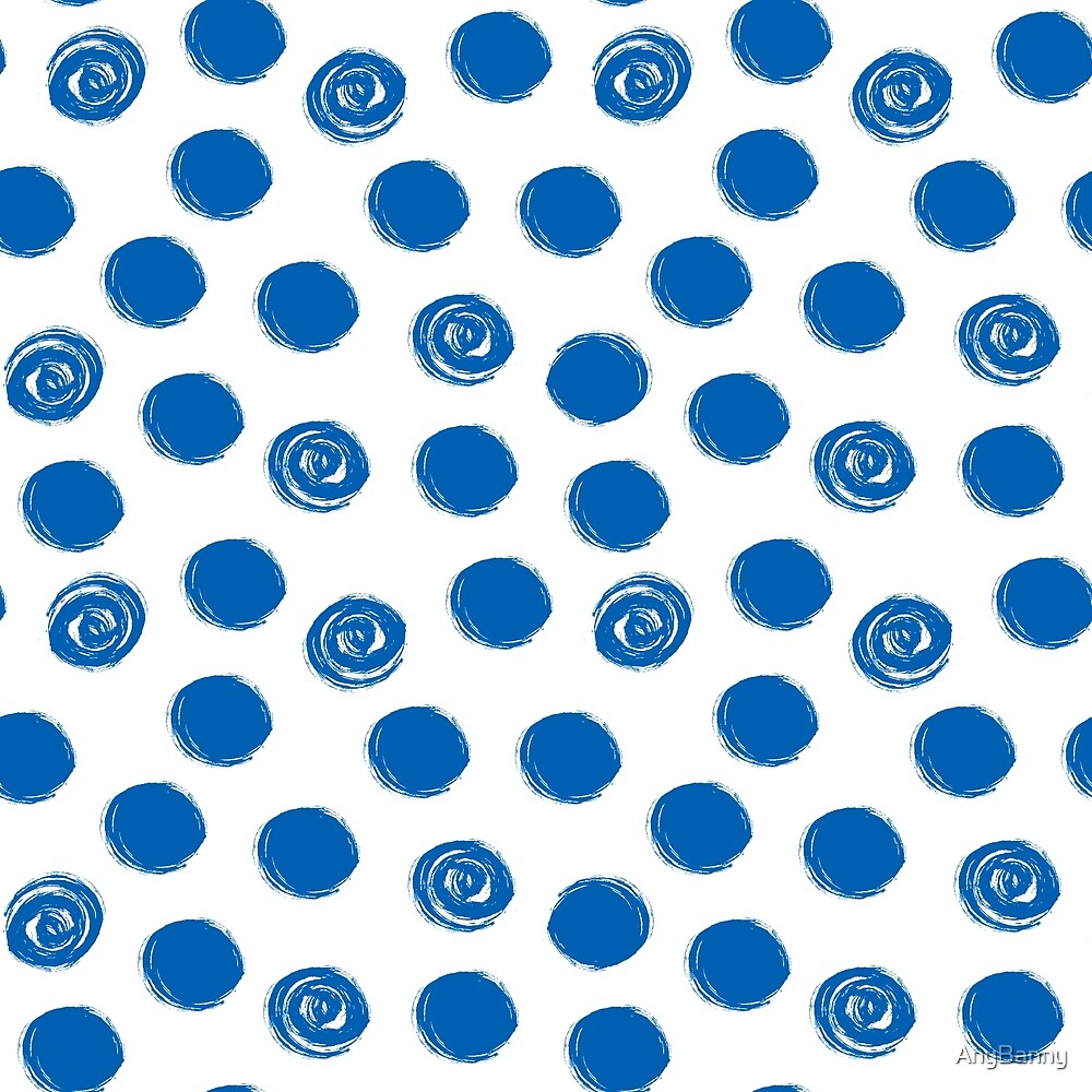 Pattern with blue polka dots by AnyBanny