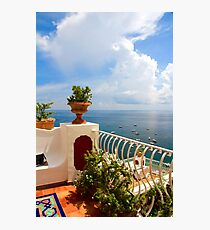 Balcony View, Positano, Italy Photographic Print