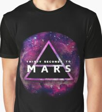 30 Seconds to Mars: Galaxy Design Graphic T-Shirt