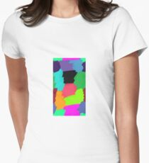 Colour Patches Women's Fitted T-Shirt