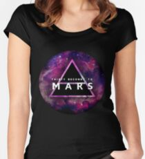 30 Seconds to Mars: Galaxy Design Women's Fitted Scoop T-Shirt
