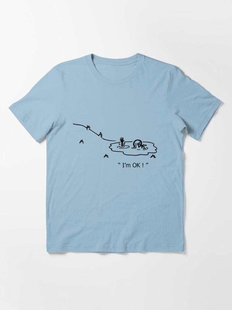 """Alternate view of """"I'm OK!"""" Cycling Crash Cartoon Essential T-Shirt"""