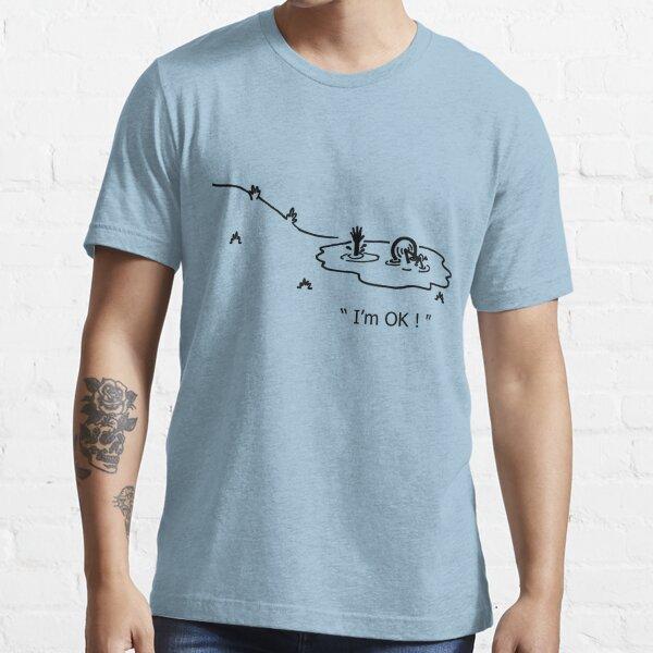 """""""I'm OK!"""" Cycling Crash Cartoon Essential T-Shirt"""