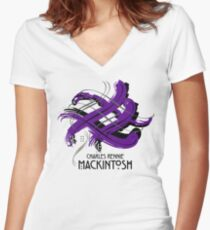 Charles Rennie Mackintosh  Women's Fitted V-Neck T-Shirt