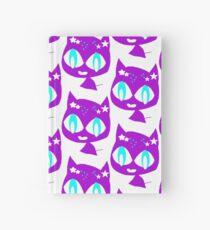 Purple kitten Hardcover Journal