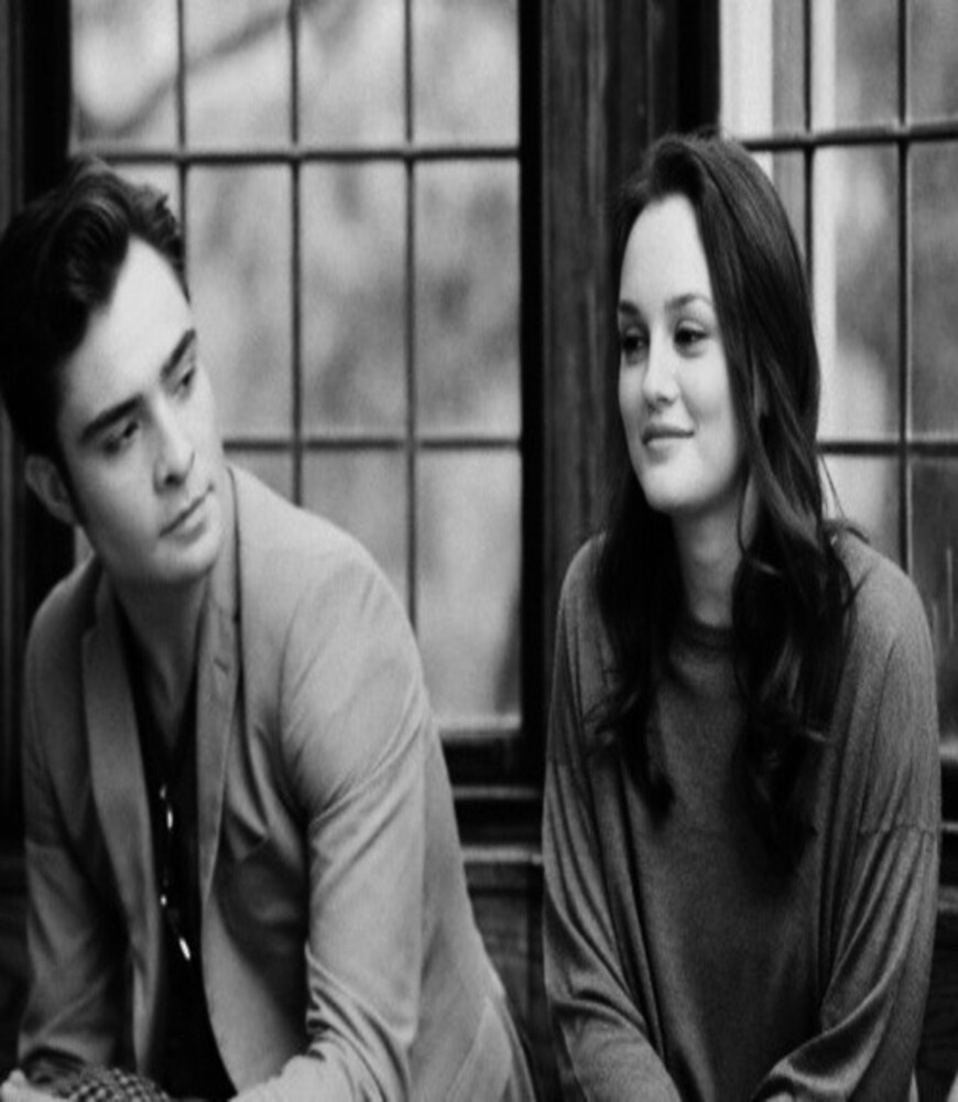 Blair and Chuck Black & White.  by kingofdunkirk