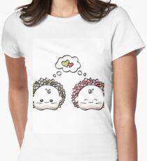 kawaii cute love hedgehog on a white background T-Shirt