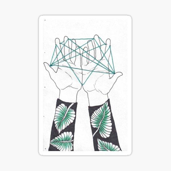 Tied Hands Sticker