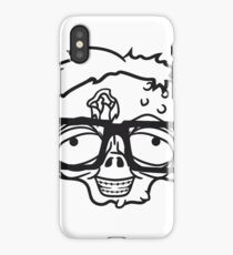 gesicht kopf nerd geek streber freak hornbrille pickel spange zombie lustig gesicht kopf untot horror monster halloween  iPhone Case/Skin
