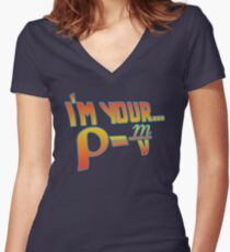 Your Density  Women's Fitted V-Neck T-Shirt