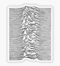 Unknown Pleasures - Joy Division Sticker
