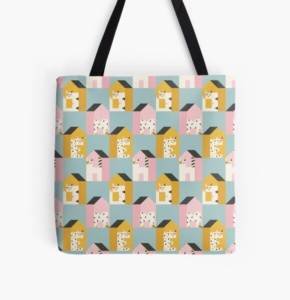 Home is where the Cat is All Over Print Tote Bag