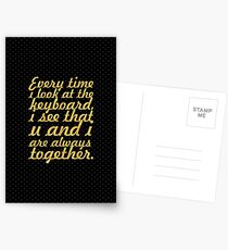 Every time i look... Inspirational Quote Postcards