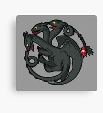 Toothless Targaryen Canvas Print