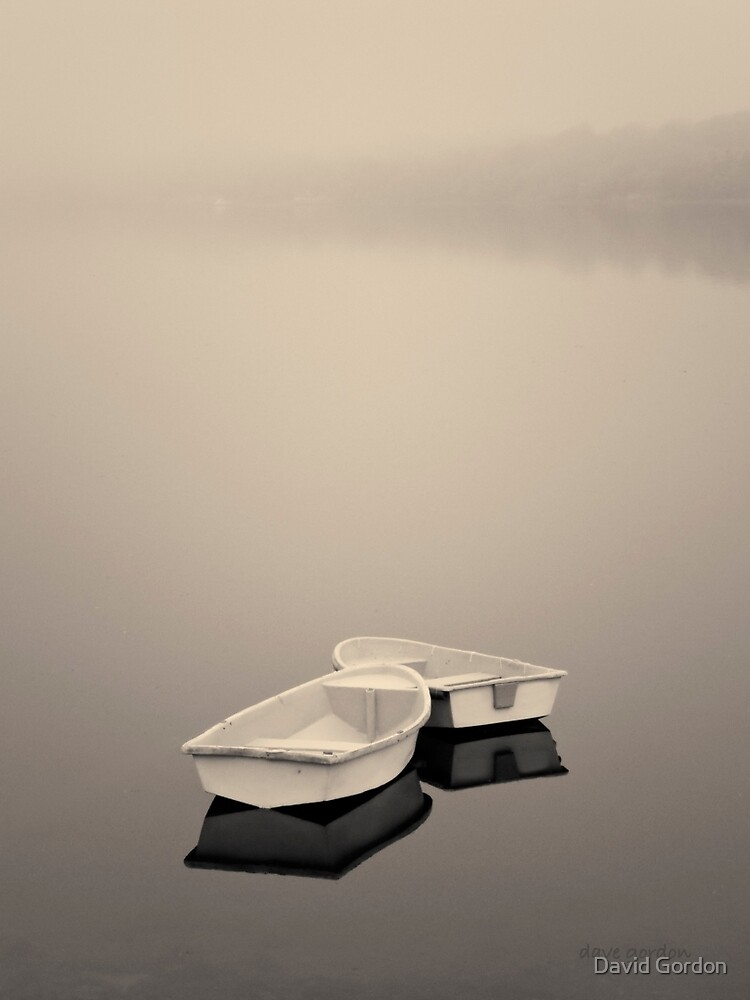 Two Boats and Fog Toned by David Gordon
