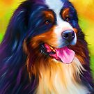 Heidi - Bernese Mountain Dog Painting by Michelle Wrighton by Michelle Wrighton