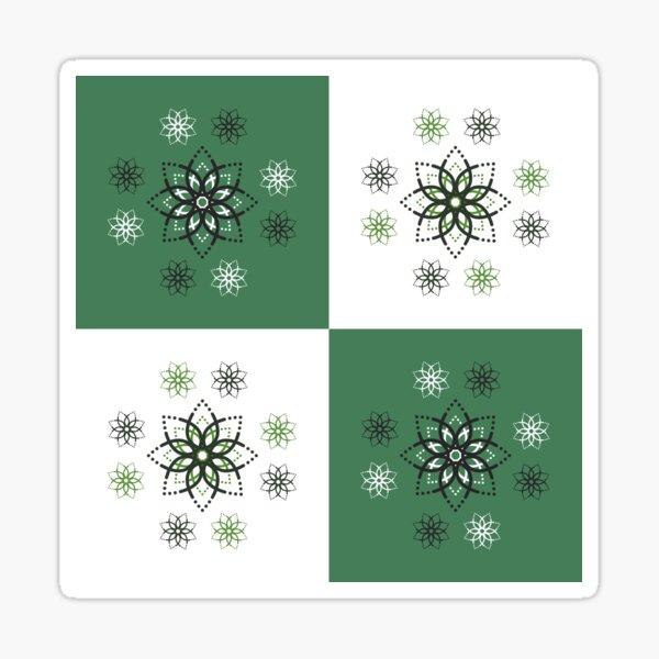 Geometric Snowstorm Flower Pattern Sticker