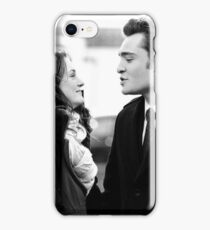 Blair and Chuck Black & White.  iPhone Case/Skin