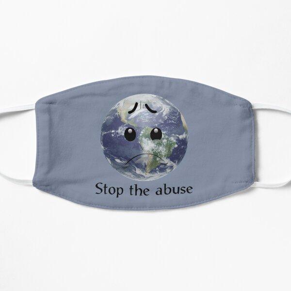 Traurige Erde - heller Hintergrund Flache Maske