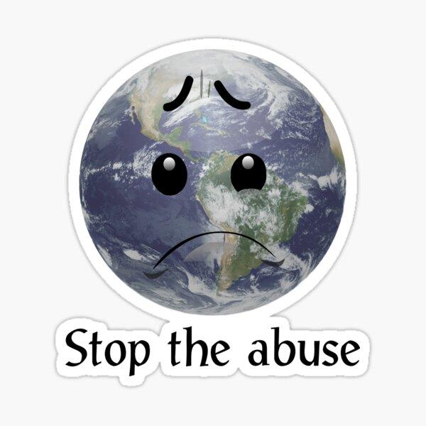 Traurige Erde - heller Hintergrund Sticker