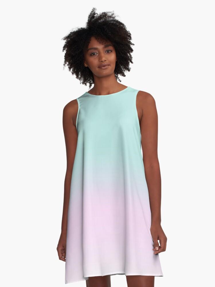 Peppermint Crisp A-Line Dress Front
