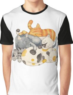 Cat Nap (Siesta Time) Graphic T-Shirt